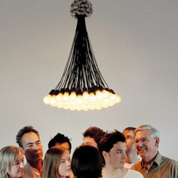 85 Droog Chandelier By Droog Design - The 85 lamp chandelier by Droog design is a classic and simple light pendant first released in 1993.
