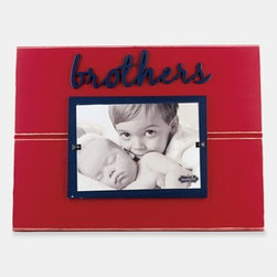 Mud Pie 'Brothers' Picture Frame - A wooden picture frame provides the perfect display for fond sibling memories. Color(s): red. Brand: MUD PIE. Style Name: Mud Pie 'Brothers' Picture Frame. Style Number: 913250.