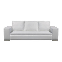 """Diva - Modern Leather Sofas and Couches Collection - The Sofa Company - Not every sofa can be a diva - but ours truly lives up to her name. With bold, robust 10""""+ wide arms and a striking modern form, Diva provides a sturdy foundation to build any modern room around."""