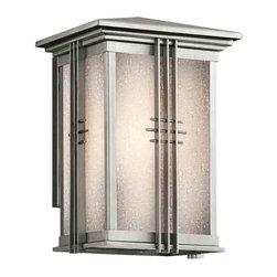 Kichler Lighting - Kichler Lighting 49158SS Portman Square Stainless Steel Outdoor Sconce - Kichler Lighting 49158SS Portman Square Stainless Steel Outdoor Sconce