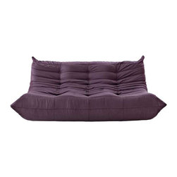 Modway - Waverunner Sofa in Purple - Provide natural comfort at every gathering with a balanced set of functional symmetry. Observe as Waverunner interplays ergonomics with dense foam cushioning to precisely reflect full relaxation. Wander through the pathways of elucidation with a multi-layered environment of intricate folds and holistic positioning.