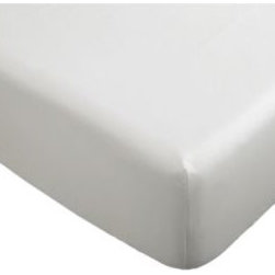 KNOPPA Fitted sheet - Fitted sheet, white