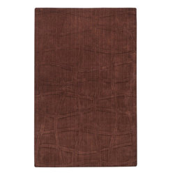 Surya Rugs - Sculpture Designer Hand Loomed 100% Wool Brown Rug SCU-7500 - 100% Wool. Style: Designer. Rugs Size: 5' x 8'. Note: Image may vary from actual size mentioned.