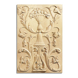 "Inviting Home - Richmond Door Panel - white oak wood (PN11OK/pl2) - door panel in white oak wood; 12-7/8""W X 18-7/8""H x 3/4""D Wood panels are hand carved from premium selected hardwoods: hard maple cherry and white oak. Panels are carved in deep relief design to achieve the highest degree of quality and details. Carved wood panels are triple sanded ready to accept stain or paint. These wood panels are perfect for wall applications cabinet doors finishing touches on the custom cabinets."