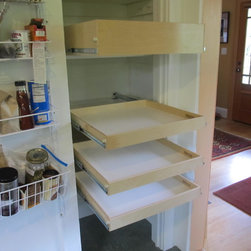 Pantry Pull Out Shelves - Custom pull out pantry shelves from ShelfGenie of Portland will make everything in your pantry more visible and more accessible.  Get organized!