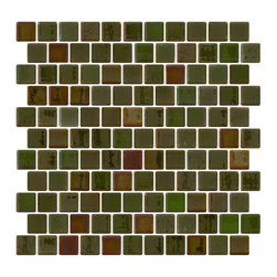 Susan Jablon Mosaics - Malachite Green Amber Iridescent Recycled Glass Tile - Malachite green amber iridescent glass tile. 100% recycled glass tile. Perfect for interior or exterior installations. Eco-friendly never looked so good! Certified by the U.S. Green Building Council for L.E.E.D. Projects, the beauty of these recycled glass tiles prove you don't need to sacrifice to be sustainable. They are suitable for a wide range of uses, indoors and outdoors, in dry or wet locations. A custom mosaic design using these tiles can make a gorgeous, responsible, design statement in your pool, kitchen bathroom, dining room – anywhere! It is very easy to install as it comes by the square foot on mesh and it is very easy to clean! About a decade ago, Susan Jablon re-ignited her life-long passion for mosaics and has built a customer-focused, artist-driven, business offering you the very best in glass and decorative tiles and mosaics. We are a glass tile store committed to excellence both personally and professionally. With lines of 100% SCS Qualified recycled tile, 12 colors and 6 shapes of mirror, semi precious turquoise stones from Arizona mines, to color changing dichroic glass. Stainless steel tiles in 8mm and 4mm and 12 designs within each, and anything you can dream of. Please note that the images shown are actual photographs of the tiles however, colors may vary due to the calibration of each individual monitor. Ordering samples of the tiles to verify color is strongly recommended.