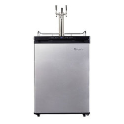EdgeStar - EdgeStar Full Size Triple Tap Kegerator with Digital Display - Keep your guests refreshingly cooled with this full sized refrigerator for your keg by EdgeStar. The stainless steel finish provides a polished design and a digital display allows for easy viewing.
