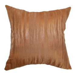 The Pillow Collection - Latrobe Plain Pillow Copper - Warm and fancy saturated hue makes this throw pillow a perfect accent piece for your sofa, bed or chair. This sprightly decor pillow features a unique pattern with a shiny finish. This accent pillow will definitely fit in various decor styles and settings. Made from a blend of durable and high-quality materials, 50% silk and 50% polyester fabric. Hidden zipper closure for easy cover removal.  Knife edge finish on all four sides.  Reversible pillow with the same fabric on the back side.  Spot cleaning suggested.