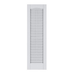 Perfect Shutters 14 5w In Louvered Cathedral Top Vinyl Shutters Express Yourself Through The