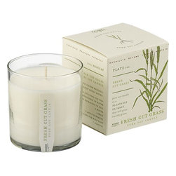 Scented Candle, Fresh Cut Grass - Enjoy the smells of spring with this fresh clipped grass scented candle.