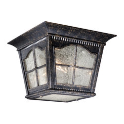 Vaxcel - Arcadia Burnished Patina Outdoor Flush Mount - Vaxcel AD-OFU110BP Arcadia Burnished Patina Outdoor Flush Mount