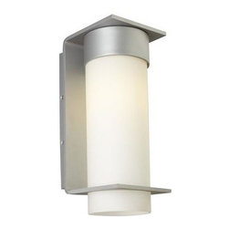 Lbl Lighting - Outdoor Wall Light - Clean-lined metal base with an opal glass cylinder. Incandescent includes (1) E26 medium base 75 watt or equivalent A19 lamp; fluorescent includes (1) GX24Q-3 base 26 watt triple tube compact fluorescent lamp. May also be lamped with a GX24Q-3 32 watt triple tube compact fluorescent lamp (not included).120 or 277v.