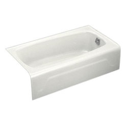 KOHLER - KOHLER K-746-0 Seaforth Bath with Right-Hand Drain - KOHLER K-746-0 Seaforth Bath with Right-Hand Drain in White