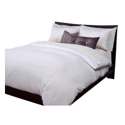 SIS Covers - SIS Covers Harbour Shell Duvet Set - 6 Piece Full Duvet Set - 5 Piece Twin Duvet Set Duvet 67x88, 1 Std Sham 26x20, 1 16x16 dec pillow, 1 26x14 dec pillow. 6 Piece Full Duvet Set Duvet 86x88, 2 Std Shams 26x20, 1 16x16 dec pillow, 1 26x14 dec pillow. 6 Piece Queen Duvet Set Duvet 94x98, 2 Qn Shams 30x20, 1 16x16 dec pillow, 1 26x14 dec pillow. 6 Piece California King Duvet Set Duvet 104x100, 2 King Shams 36x20, 1 16x16 dec pillow, 1 26x14 dec pillow6 Piece King Duvet Set Duvet 104x98, 2 Kg Shams 36x20, 1 16x16 dec pillow, 1 26x14 dec pillow. Fabric Content 1 100 Polyester. Guarantee Workmanship and materials for the life of the product. SIScovers cannot be responsible for normal fabric wear, sun damage, or damage caused by misuse. Care instructions Machine Wash. Features Reversible Duvet and Shams.