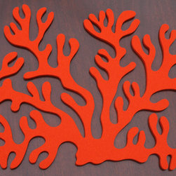 """The Atoll Collections By Aestivation Designs - """"Antler Coral Place Mat"""" captures the organic shape of coral allowing for a versatile table top design for any setting, an elegant beach side feel breakfast, to a seaside luncheon to formal Asian inspired dinning."""