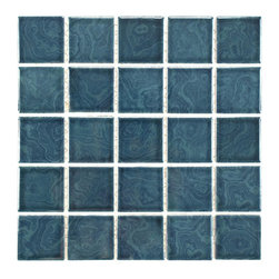 None - SomerTile 12x12 Paradise Coral Blue Porcelain 0.188-in Mosaic Tile (Pack of 10) - This tile is the perfect accent to your outdoor area or for any indoor usage. This durable series may be used on any wall surface, on floors that receive light to medium foot traffic and in pools or showers.