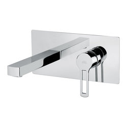 WS Bath Collections - Ringo Wall Ringo Wall Mount Shower Mixer - This fabulous fixture looks like a sleek control panel, allowing you to fine-tune your bath-taking experience. Besides the spout and single lever, there's a diverter switch, as well as a handheld wand for rinsing your hair … and the tub.