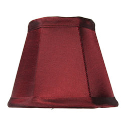 Home Concept - Chandelier Clip-On Stretch Chameleon Burgundy Premium Lampshade 3x5x4 - Celebrate Your Home - Home Concept invites you to welcome your guests with our array of lampshade styles that will instantly upgrade your space