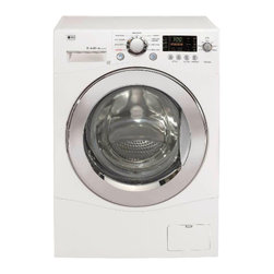 LG Electronics Compact Front Load Washer In White - A glossy white front-load washer and dryer set is on my laundry room wish list.