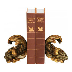 Sterling Industries - Pair Turning Leaf Bookends - Pair Turning Leaf Bookends
