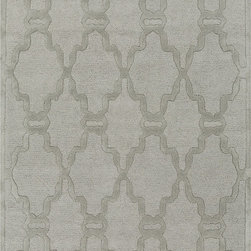 Chandler CHA4003 Rug - 2'x3' - The tone-on-tone rugs in the Chandler collection provide subtle but clear design. In shades of ivory, beige, and gray, this collection can add coziness and warmth to any space. These rugs are hand tufted from 100% wool, making them durable and comfortable.