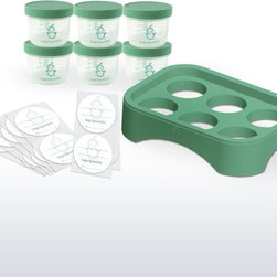 Sage Spoonfuls - Sage Spoonfuls Storage System - SS17514 - Shop for Bottles & Baby Dishware from Hayneedle.com! The Sage Spoonfuls Storage System allows busy moms to make and store their own baby food which is healthier better tasting and more cost-effective than the commercial option. You'll get six 4 oz. containers that go from freezer to refrigerator to on-the-go labels and a storage tray to hold them. Each is safe airtight and extra-durable.About Sage SpoonfulsLaunched by a savvy mom in 2011 Sage Spoonfuls has quickly taken the world by storm. Making healthy great-tasting well-balanced baby food at home is much easier than people imagine with just a few specialized tools and Sage Spoonfuls makes the best. Using this system of simple prep and storage and a comprehensive collection of recipes and strategies moms can save money and stress by working in the kitchen only 1 hour every 2 weeks!