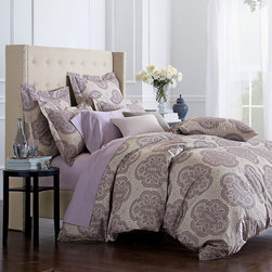 Olympia Wrinkle-Free Sateen Comforter Cover/Duvet Cover And Sham - This pretty oversized print is great for a queen or king bed. Match the scale of the print to the size of the bed — a small print could get lost.
