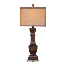 Bassett Mirror - Walden Table Lamp - An old world-styled table lamp that is a classy addition to nearly any decor.  The versatility of this lamp will add attractive lighting coupled with functionality to your space.