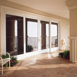 Sliding French Doors - White trimmed sliding French doors from Renewal by Andersen.