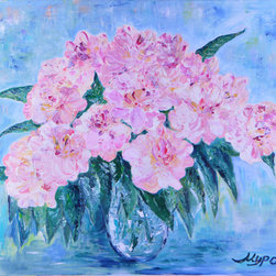 Peonies In A Vase - Peonies. The Emperor of Flowers, their second name. And I bow to the Emperor, and I serve. Hope you will enjoy for your bedroom design, or a living room idea.