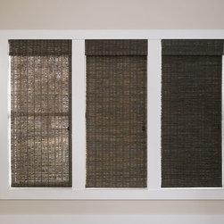 Manh Truc Woven Shades - From left to right: unlined, light filtering lining, and room darkening lining.