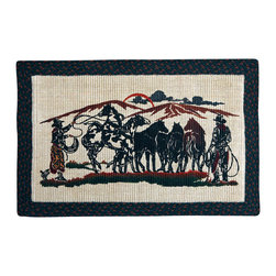 Earth Rugs - 1124 Round Up Rectangle Wicker Weave Rug 20in.x30in. - Round Up Rectangle Wicker Weave Rug 20 in. x30 in.