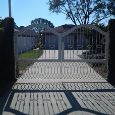 Contemporary Home Fencing And Gates by Audubon Iron Works, inc