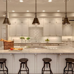 kitchens - Benjamin Moore - Stingray - Hudson Valley 9911 Darien 1 Light Mini Pe