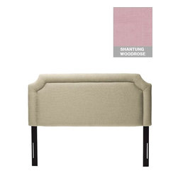Home Decorators Collection - Custom Cardon Upholstered Headboard - The notched corners of our Custom Cardon Upholstered Headboard give it a scalloped profile; an inset border underscores this elegant shape. This custom headboard is available in a wide range of gorgeous, top-quality fabrics. Choose just the right look for your bedroom with this American-made fabric headboard. Includes hardware to attach to most standard bed frames. Assembled to order in the USA and delivered in 4-6 weeks. Spot clean only.