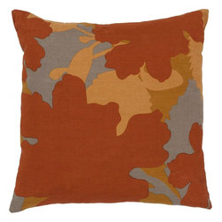 "Surya - Surya JD-028 Captivating Cattail Pillow, 22"" x 22"", Down Feather Filler - Get wonderfully wild in your space with this unique pillow. Featuring the flickering stripes of a bold orange zebra pattern, this piece offers a distinctive look that is sure to spice up any space within your home. This pillow contains a zipper closure and provides a reliable and affordable solution to updating your home's decor."