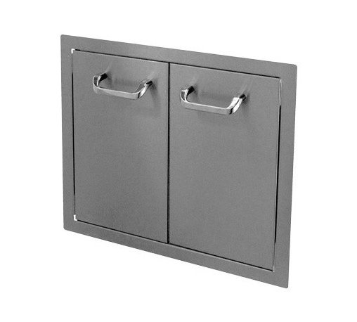 "HBI - Hasty-Bake 24"" Stainless Steel Standard Double Access Doors (24DD-STD) - These doors feature sturdy 18 gauge all Stainless (304 grade material) single wall construction, trouble free hinges, and chrome plated handles. Flat bezel lays flush to cabinet surface. Available in numerous sizes."