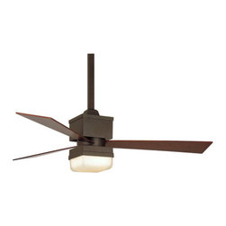 "Fanimation - Fanimation FP4420OB Kubix 3 Blade 54"" Ceiling Fan - Remote Control, Blades and L - Fanimation Kubix Indoor Ceiling FanThink The Kube(tm). Clean lines. Beautiful Design. The square lines of this modern fan will make an unexpected statement.Features:"