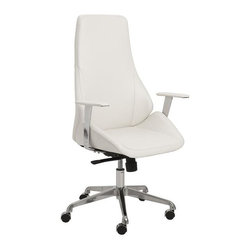 Euro Style - Bergen High Back Office Chair - Leatherette seat and back over foam. Laminated wood frame. Synchronous mechanism with four locking positions. Chromed aluminum base. PU casters with stainless steel hood. BIFMA approved. 24.5 in. L x 26.75 in. W x 48.5 in. H