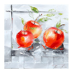 Yosemite Home Decor - Yosemite Home Decor Fresh Apples I Wall Art - 24W x 24H in. Multicolor - FCK8476 - Shop for Framed Art and Posters from Hayneedle.com! Add a breath of color and life to your home with the Yosemite Home Decor Fresh Apples I Wall Art - 24W x 24H in.. This beautiful piece of original artwork depicts three pristinely red apples lying on a textured gray counter almost too perfect to eat. Hand-painted in vibrant acrylics this work of art would make a lively addition to your kitchen or dining area. It comes ready to hang in your home. Add a punch of color and playfulness on any wall where it hangs.About Yosemite Home DecorWith a variety of products in a variety of styles Yosemite Home Decor strives to provide a solution for every home design need. Based in Fresno Calif. Yosemite specializes in high-quality lighting fixtures faucets and related home decor products for commercial builder and residential markets.