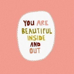You are Loved Art Print by Shelli Dorfe - I think we could all do with a bit more confidence and a bit less self-judgement, am I right? I would place this on the inside door of my closet to start my morning on the right note.