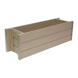ecoChoice Window Box - Try something new try the ecoChoice™ Window Box. This box is made from ecoFLEX™ a composite blend of recycled polymers and reclaimed poplar that will outlast similar products. The box won't warp or splinter and can be painted or stained for personalization.