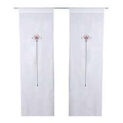 BIRGIT Pair of curtains - Pair of curtains, white, multicolor