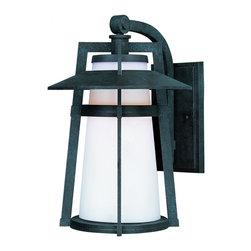 Joshua Marshal - One Light Satin White Glass Adobe Wall Lantern - One Light Satin White Glass Adobe Wall Lantern
