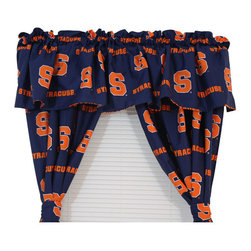 College Covers - NCAA Syracuse Orangemen Drapery and Valance 5pc Cotton Set, 84 Wide X 63 Drop - FEATURES:
