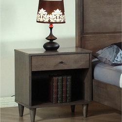 None - Vilas Light  Charcoal  Nightstand - Create the bedroom of your dreams with this Vilas nightstand. This nightstand showcases a rich Light Charcoal finish to complement any bedroom decor.