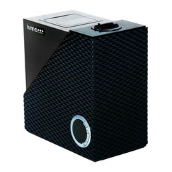 Luma Comfort - Cool & Warm Mist Humidifier - Electrical: 110V-120V / 60 Hz / 105W. Daily Output: 1.9 gallons. Coverage Area: Up to 538 square feet. Maximum Run Time: 40 hours . Tank Size: 7.3 pints. Mist Settings: 3. Adjustable Timer: 1-12 Hours. Noise Level (dB): Less than 40 dB. Color: Black. Warranty: 1 year manufacturers warranty. Provides soothing warm and cool moisture for increased comfort, easier breathing & a better nights sleep. Helps relieve allergy, cold and flu symptoms. Built-in hygrometer offers custom and automatic humidity control. Modern design fits in with any decor. Lasts up to 40 hours on a single tank fill. Energy-efficient ultrasonic technology. Whisper-quiet operation wont disturb your environment. Perfect for bedrooms, nurseries and other living spaces. 9.8 in. L x 5.6 in. W x 9.9 in. H ( 5.1 lbs. )Soothe cough and cold symptoms while adding moisture to dry environments with the Luma Comfort HCW10B Cool & Warm Mist Humidifier. Featuring both warm and cool mist functions, the HCW10B is a perfect household addition during cold and flu season. With both automatic humidity control and a digital LED display panel, the HCW10B is one of the most advanced humidifiers on the market today. The HCW10B is nearly silent, making it the perfect humidifier for bedrooms, nurseries, living spaces and even offices and work areas. Featuring an easy to clean, removable antibacterial water tank, the Luma Comfort warm/cool mist humidifier can run for up to 40 hours on a single tank. A demineralization cartridge helps soften hard water to prevent scale buildup, and coupled with the low water level indicator, this results in nearly maintenance-free operation. Additional features include a 12 hour timer, dual adjustable mist nozzles and a hidden easy-carry handle.