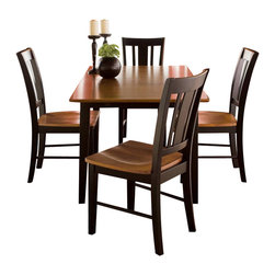 International Concepts - International Concepts 5 Piece San Remo Dining Set in Black Cherry - International Concepts - Dining Sets - K57T32XC104 - This 5 piece Dining set is made of solid wood and will last you a very long time. Not only is it durable, it is also beautiful and will enhance your decor whether you live in a house or a condo.