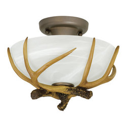 Craftmade - Craftmade X1611 2 Light Semi-Flush Ceiling Fixture - Craftmade 2 Light Semi-Flush Ceiling Fixture from the Frontier CollectionSpecifications: