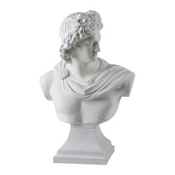 Renwil - David Statue - Update your home decor with this hand-molded statue depicting the bust of David. This statue features a matte white finish.